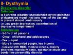 ii dysthymia