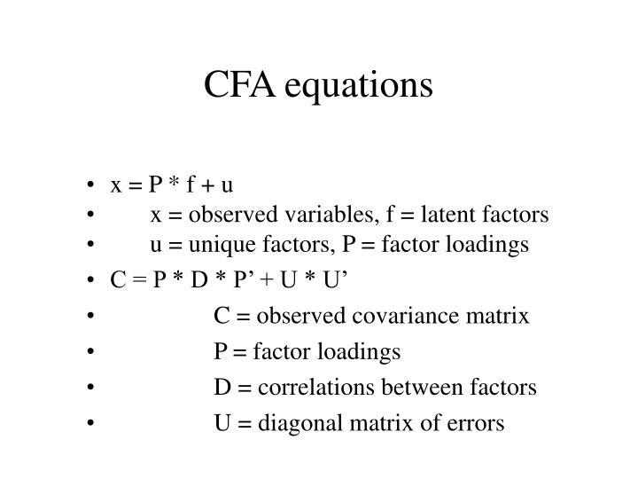 CFA equations