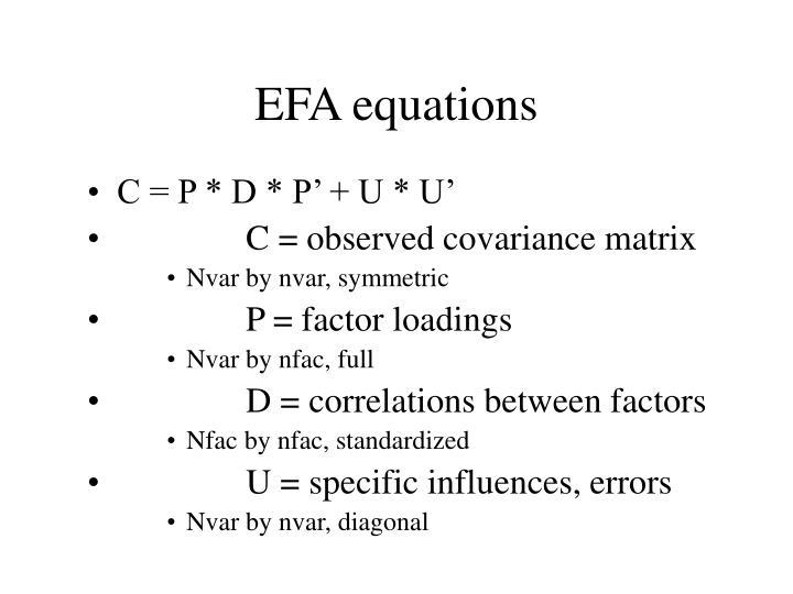 EFA equations