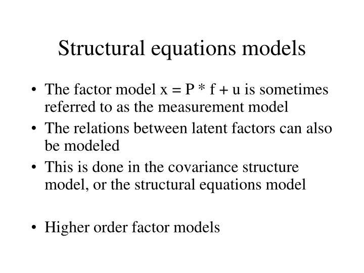 Structural equations models