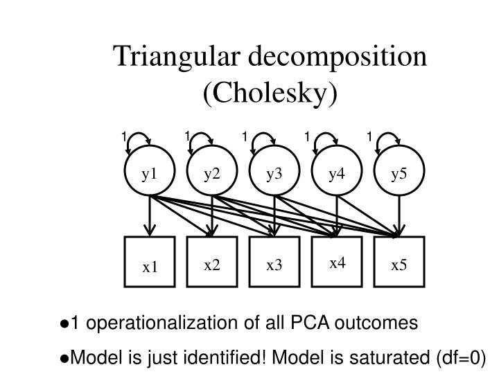 Triangular decomposition (Cholesky)