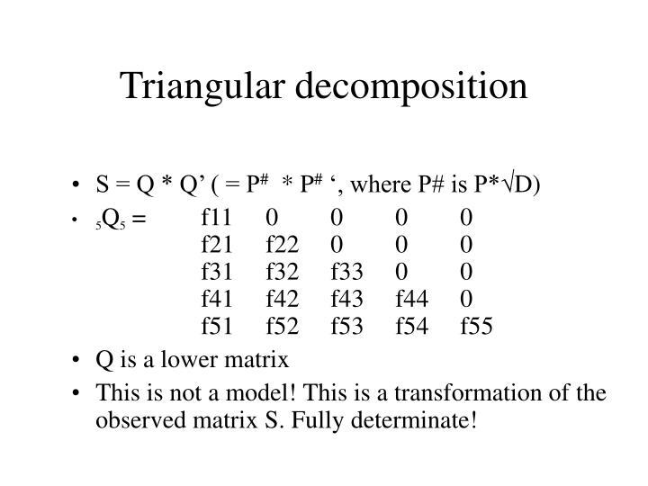 Triangular decomposition