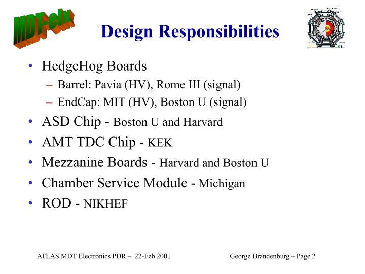 Design Responsibilities