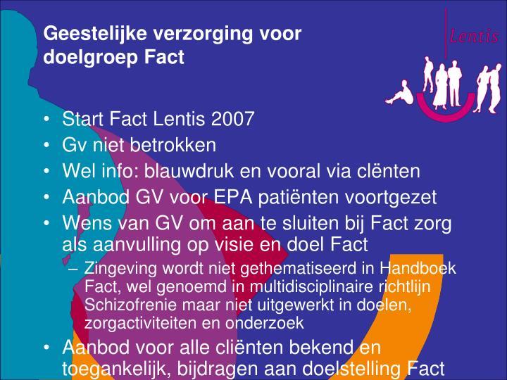 Geestelijke verzorging voor doelgroep Fact