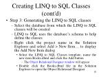 creating linq to sql classes cont d2