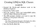 creating linq to sql classes cont d3