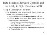 data bindings between controls and the linq to sql classes cont d1