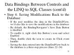 data bindings between controls and the linq to sql classes cont d4