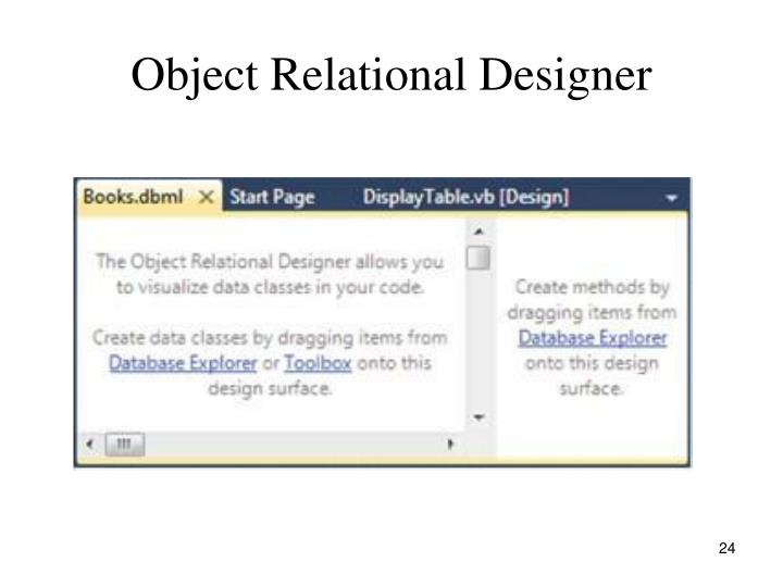 Object Relational Designer
