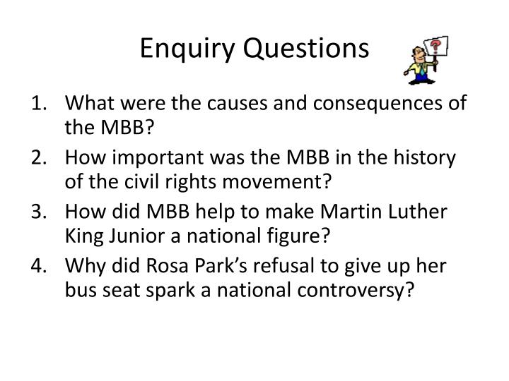 Enquiry questions