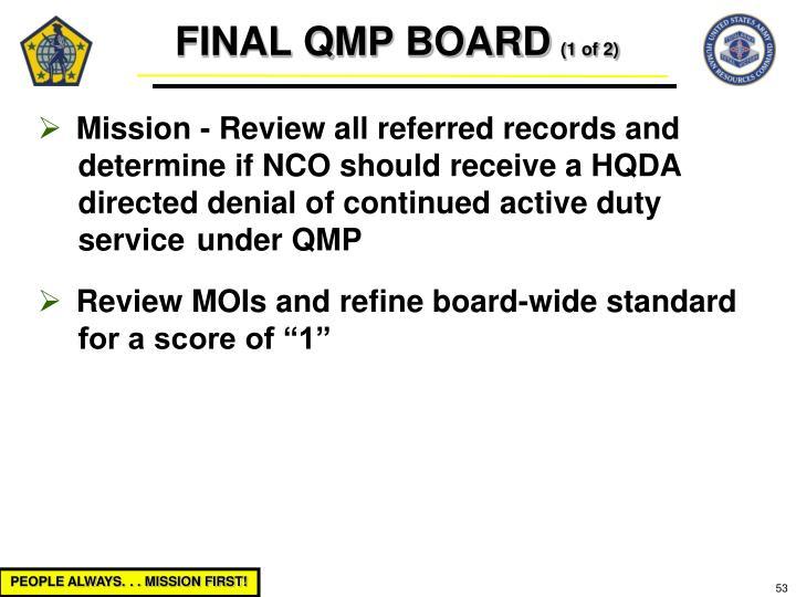 FINAL QMP BOARD