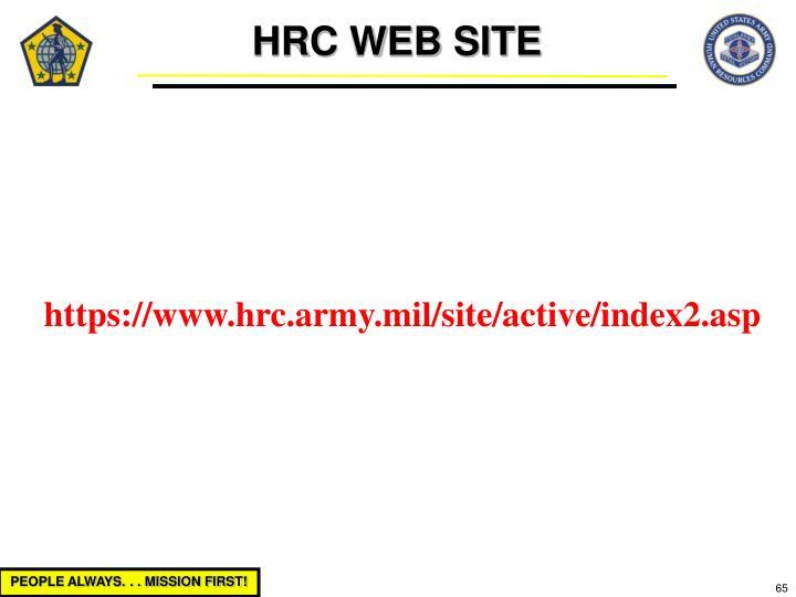 HRC WEB SITE