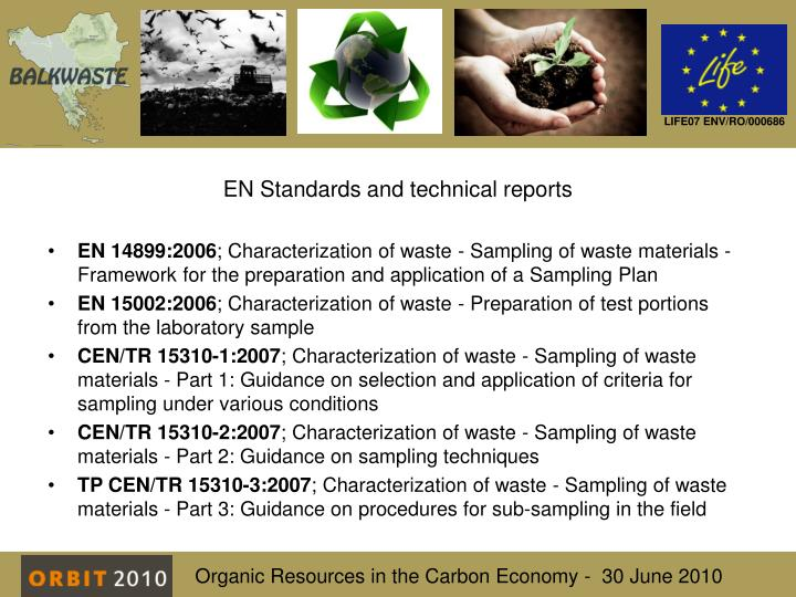 EN Standards and technical reports