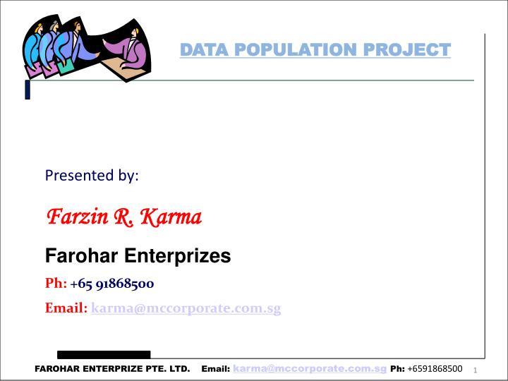 DATA POPULATION PROJECT