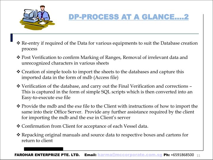 DP-PROCESS AT A GLANCE….2
