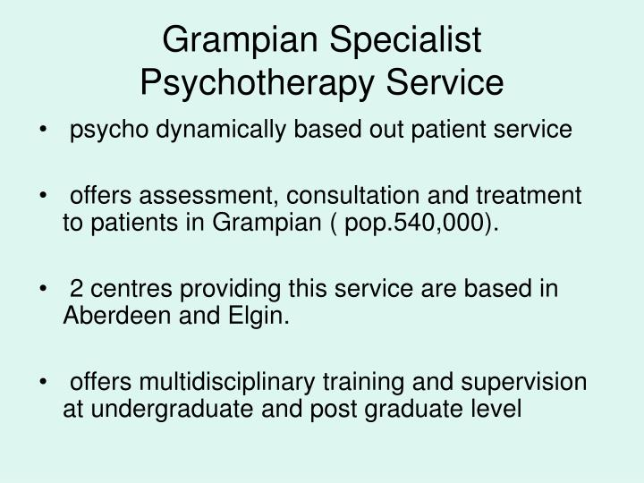 Grampian Specialist Psychotherapy Service