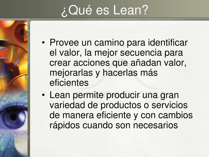 ¿Qué es Lean?