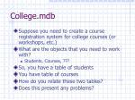 college mdb1