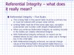 referential integrity what does it really mean1