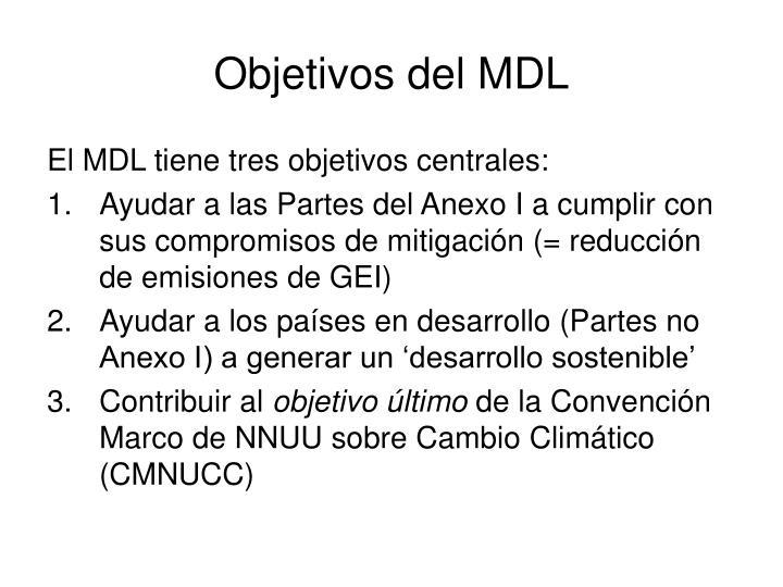 Objetivos del MDL