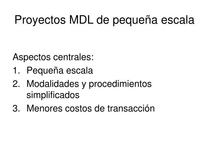 Proyectos MDL de pequeña escala