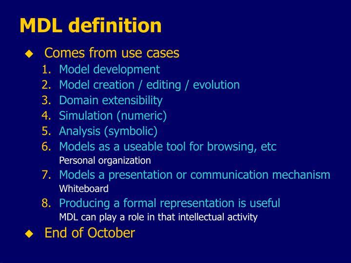 MDL definition