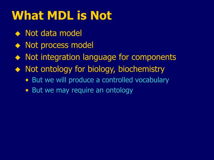 What MDL is Not