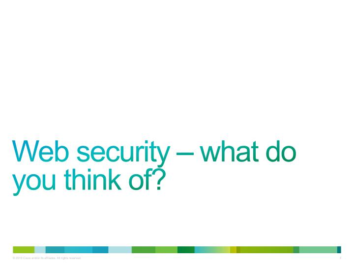 Web security – what do you think of?