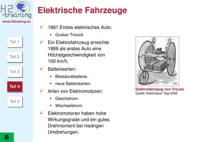 Elektrische Fahrzeuge