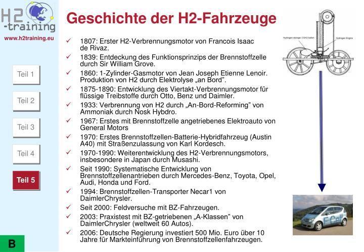Geschichte der H2-Fahrzeuge