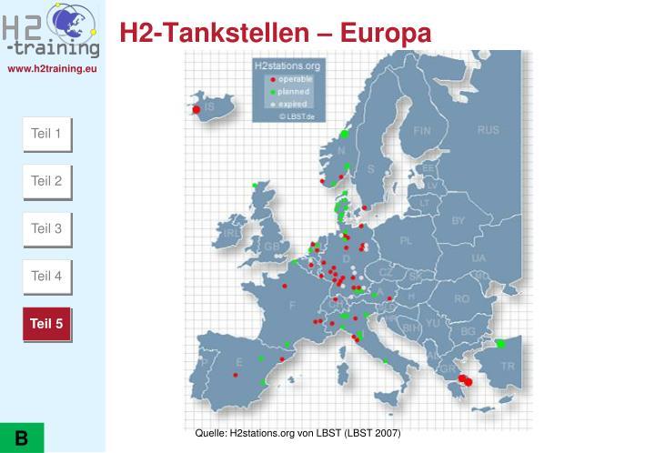 H2-Tankstellen – Europa