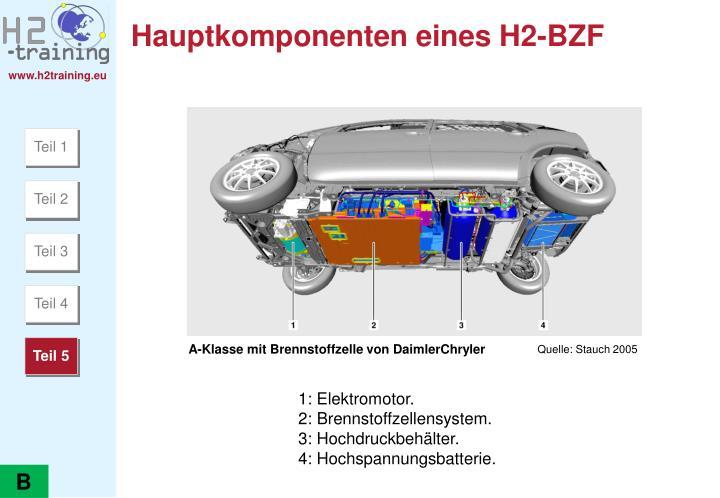 Hauptkomponenten eines H2-BZF