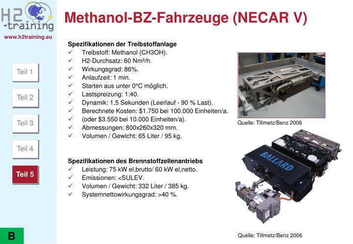 Methanol-BZ-Fahrzeuge (NECAR V)