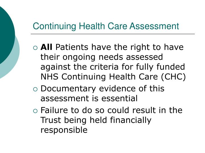 Continuing Health Care Assessment