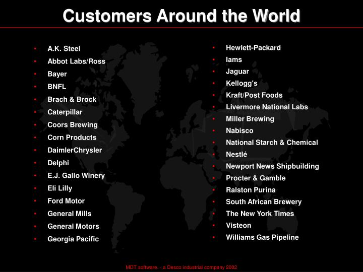 Customers Around the World