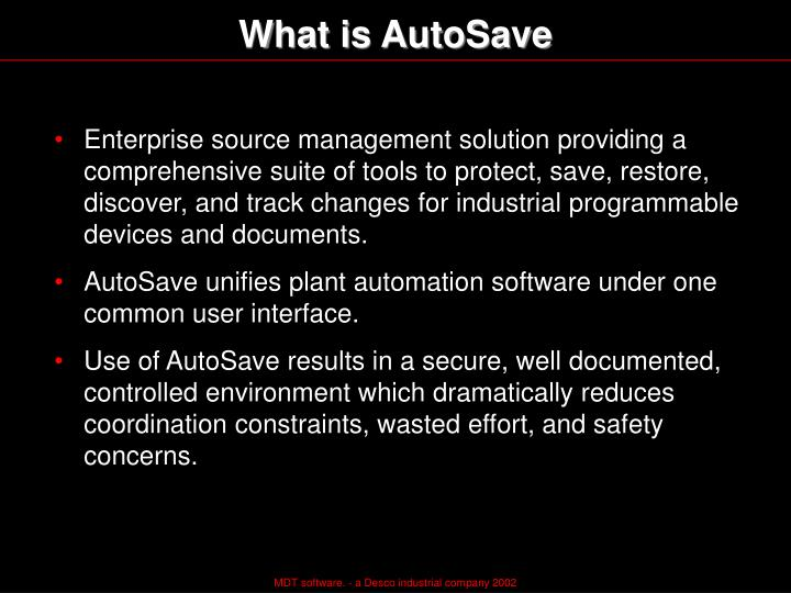 What is AutoSave