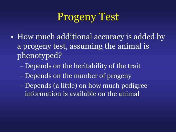 Progeny Test