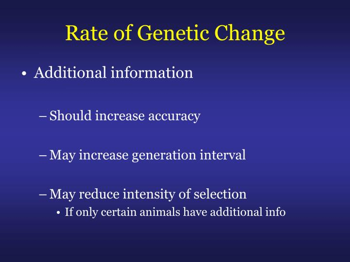Rate of Genetic Change