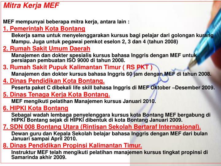 Mitra Kerja MEF