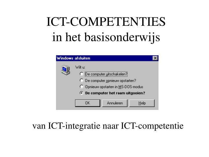 ICT-COMPETENTIES