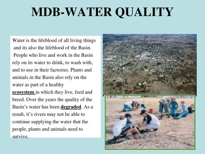 MDB-WATER QUALITY