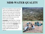 mdb water quality