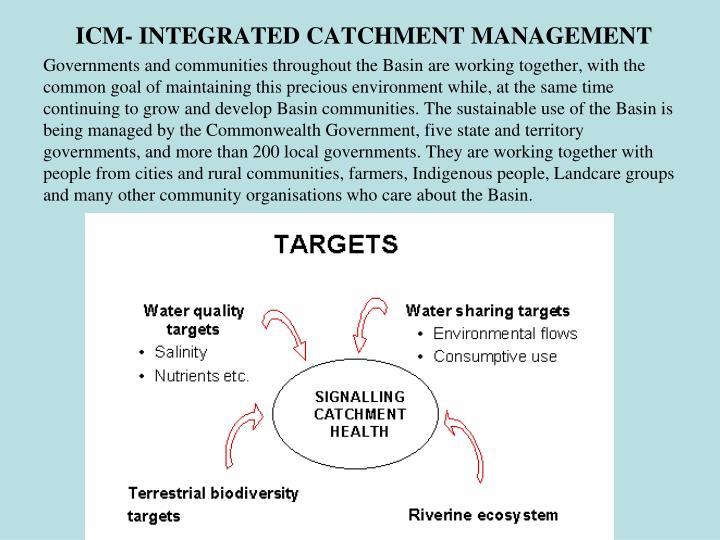 ICM- INTEGRATED CATCHMENT MANAGEMENT