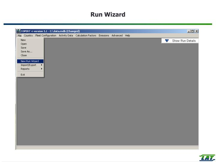 Run Wizard