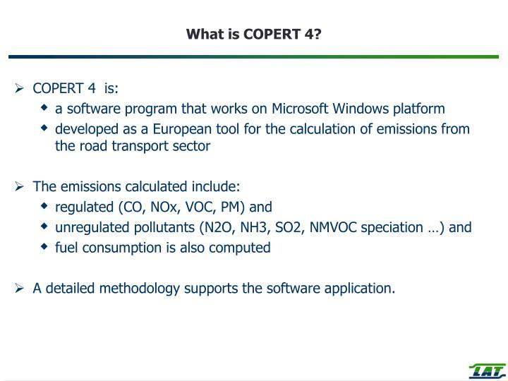 What is COPERT 4?