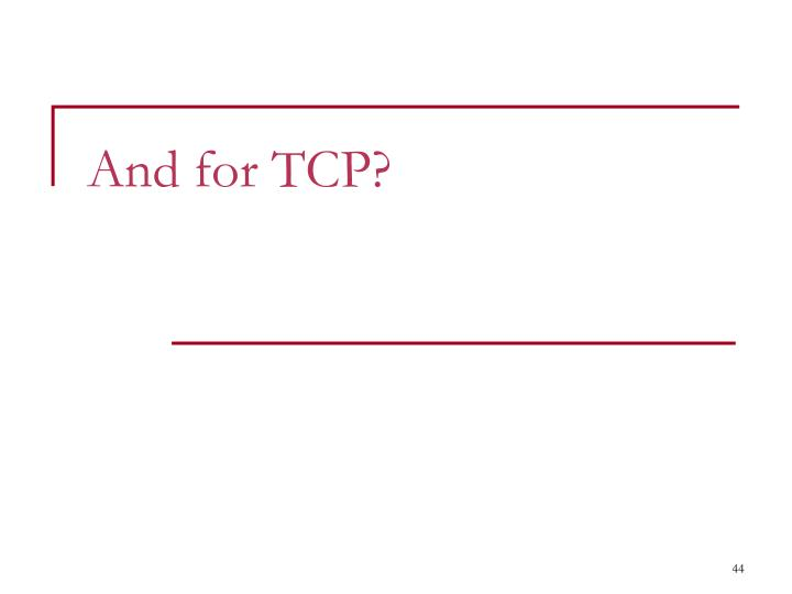 And for TCP?