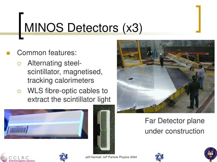 MINOS Detectors (x3)