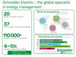 schneider electric the global specialist in energy management