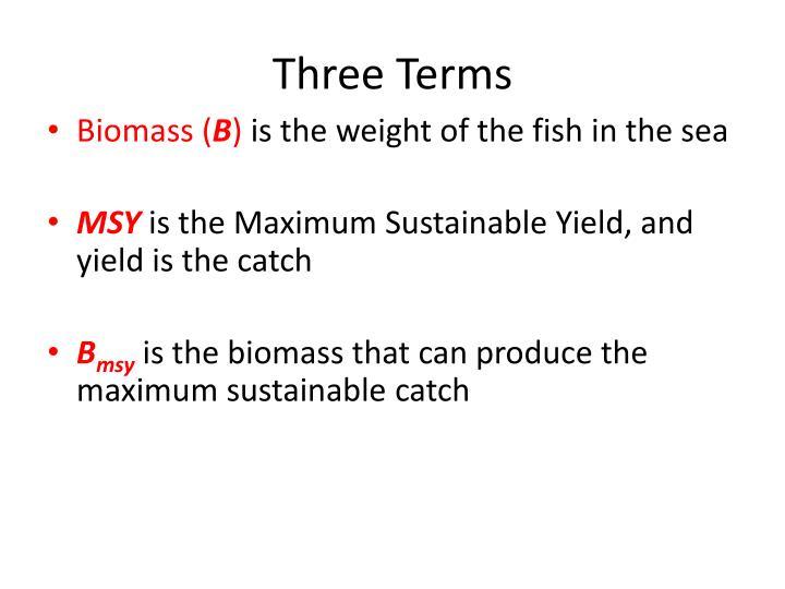 Three Terms