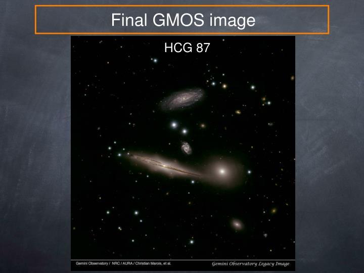 Final GMOS image